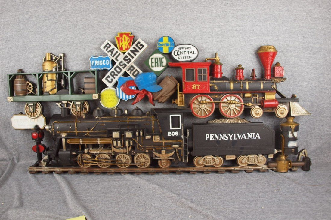 "107:  Plastic train wall plaque, 43"" x 20"""