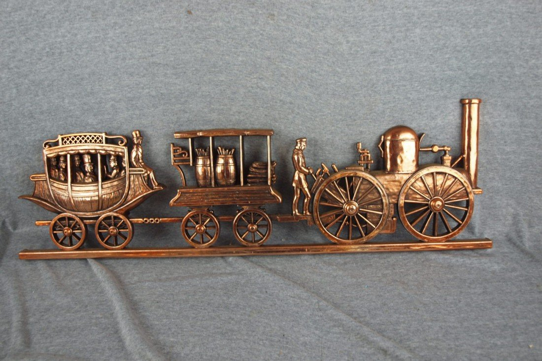 108:  Plastic train wall plaque, 34""