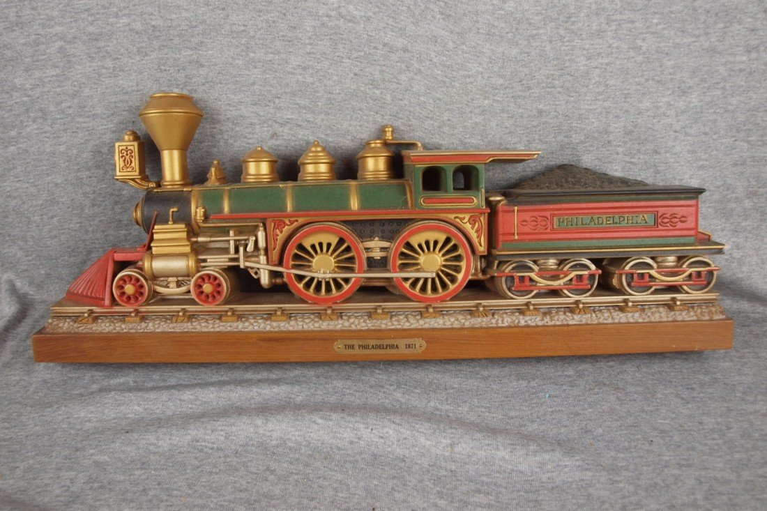 "109:  Plastic train wall plaque, ""The Philadelphia, 187"