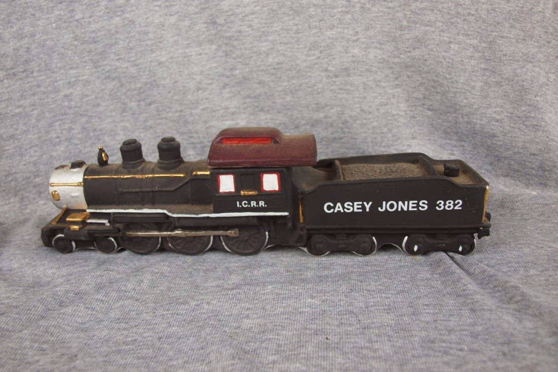 "119:  Ezra Brooks ""Casey Jones 382"" whiskey decanter"
