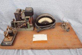 Railway Telegraph Key And Resonator, Used At Indi