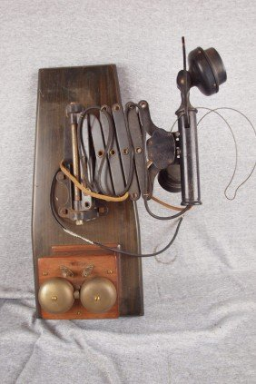 Western Electric Scissor Railroad Telephone And Ri