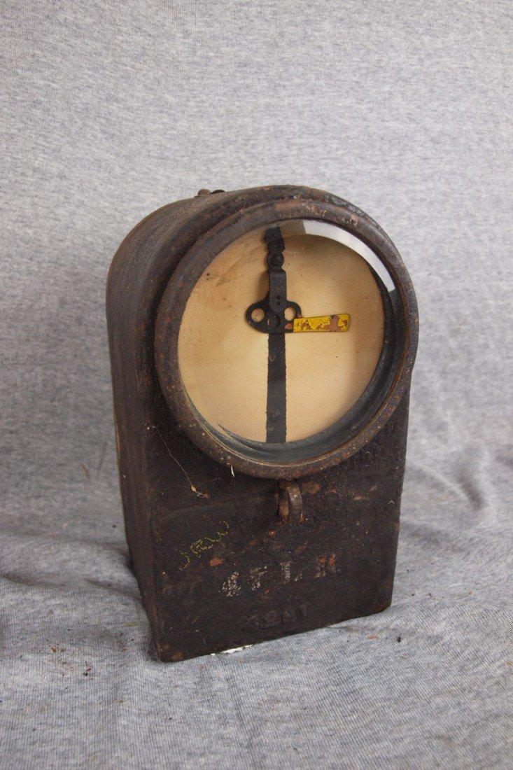 168: Cast iron railroad crossing arm meter