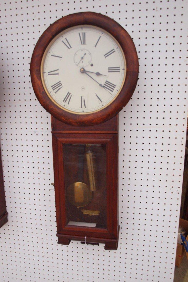 194:  Seth Thomas B&ORR #2 wall regulator clock, replac
