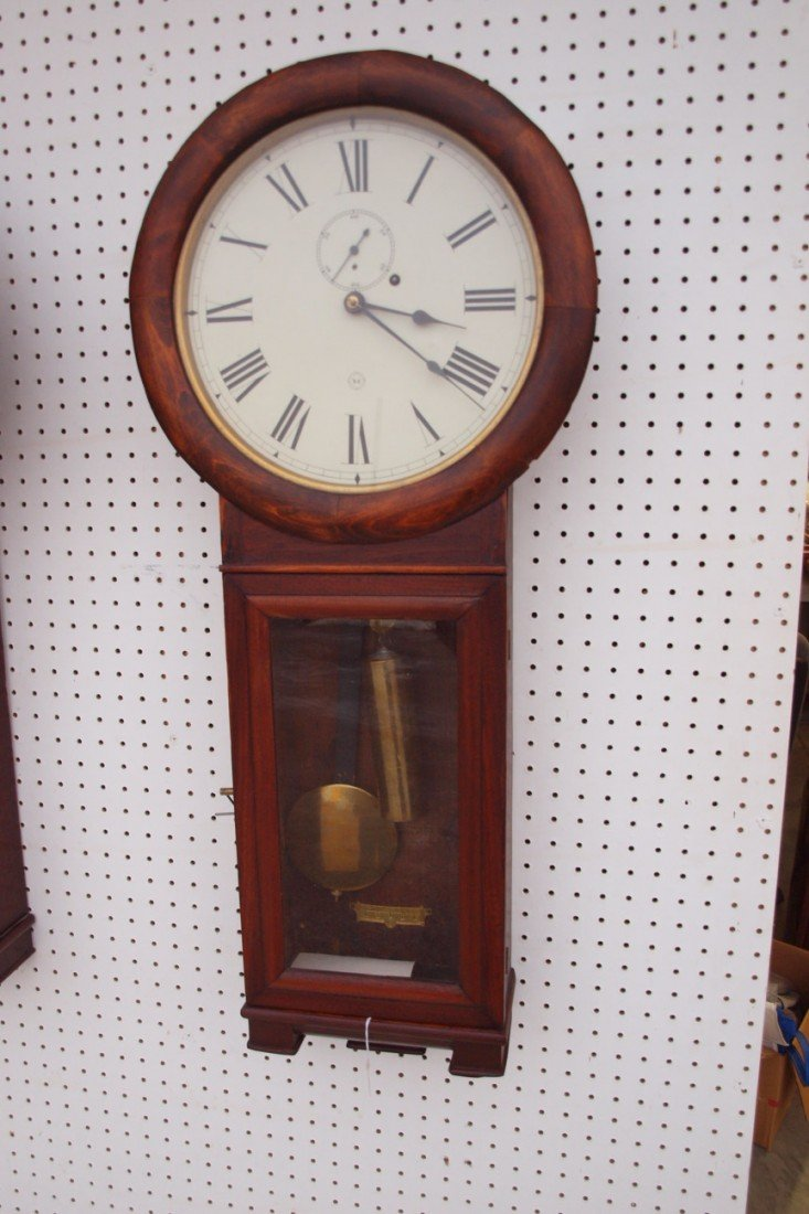 194:  Seth Thomas B&ORR #2 wall regulator clock, replac