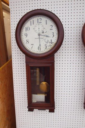 Seth Thomas B&ORR #2 Wall Regulator Clock, Paint