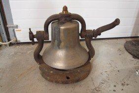"""197:  Railroad brass engine bell, #3488, 15""""d"""