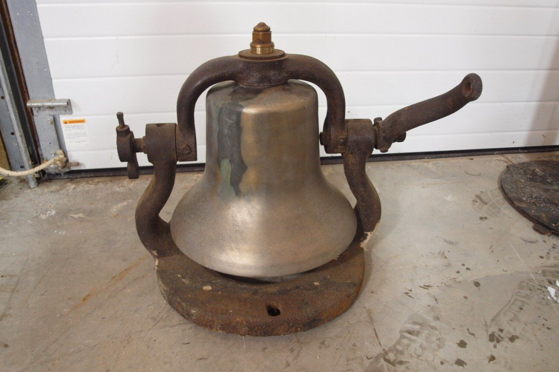 "197:  Railroad brass engine bell, #3488, 15""d"