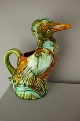Onnaing French Figural Duck Pitcher, 9""