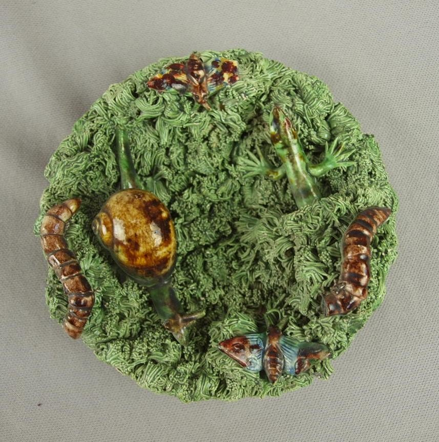 644: Jose Cunha Portugal Palissy small tray with snail,
