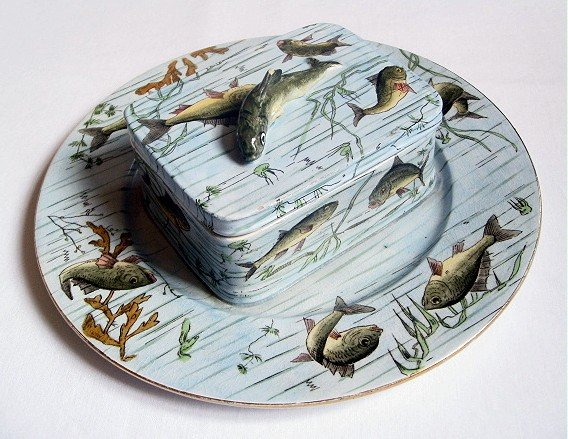 657: GEORGES DREYFUS French sardine dish decoarted with