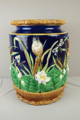 GEORGE JONES Cobalt Bird, Water Lily And Bullrush