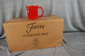 Fiesta Post 86 Scarlet Case Of 10 Square Mugs