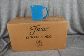 Fiesta Post 86 Peacock Case Of 10 Square Mugs