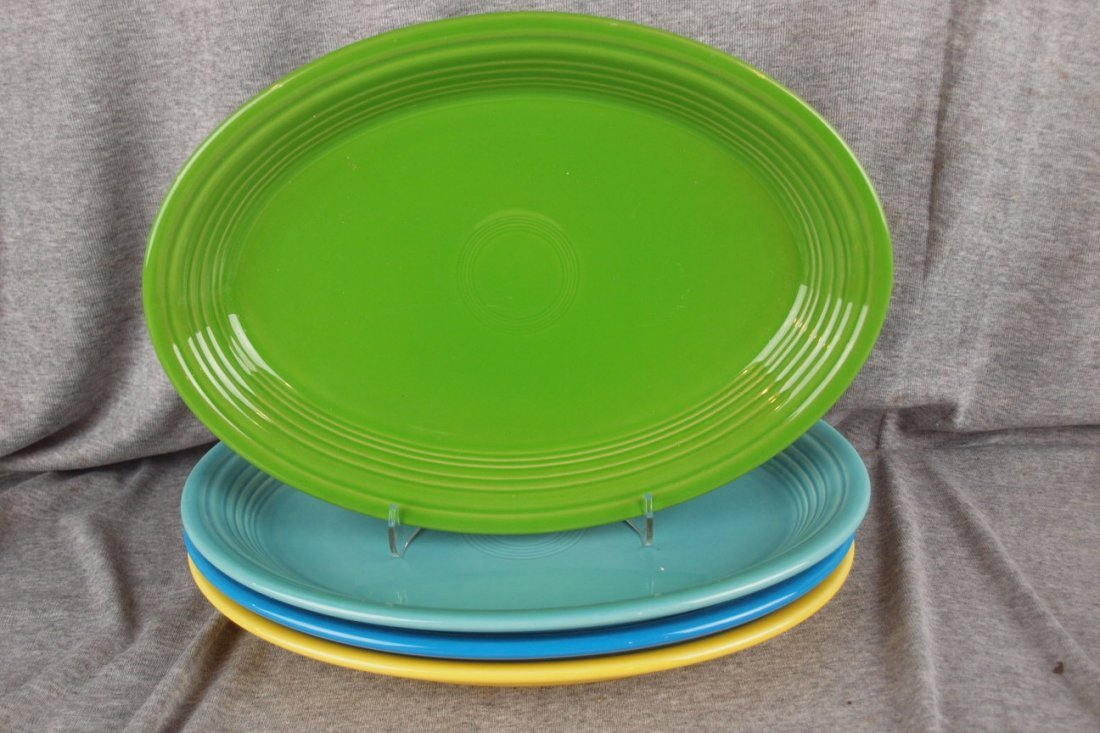 80: Fiesta Post 86 platter group - Shamrock, Turquoise,
