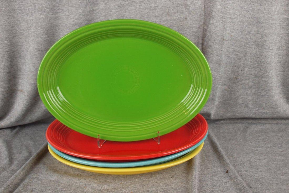 82: Fiesta Post 86 platter group - Shamrock, Scarlet, S