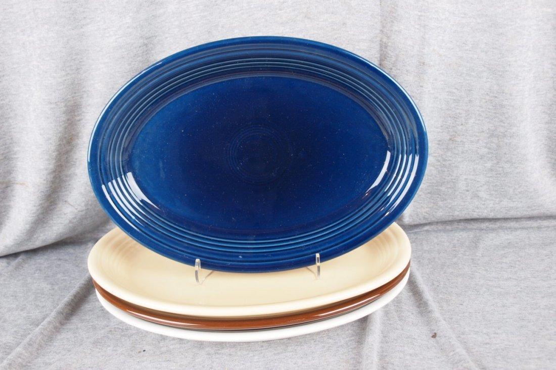 85: Fiesta Post 86 platter group - Cobalt, Ivory, Choco