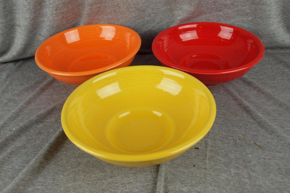 91: Fiesta Post 86 pedestal bowl group - Tangerine, Sca