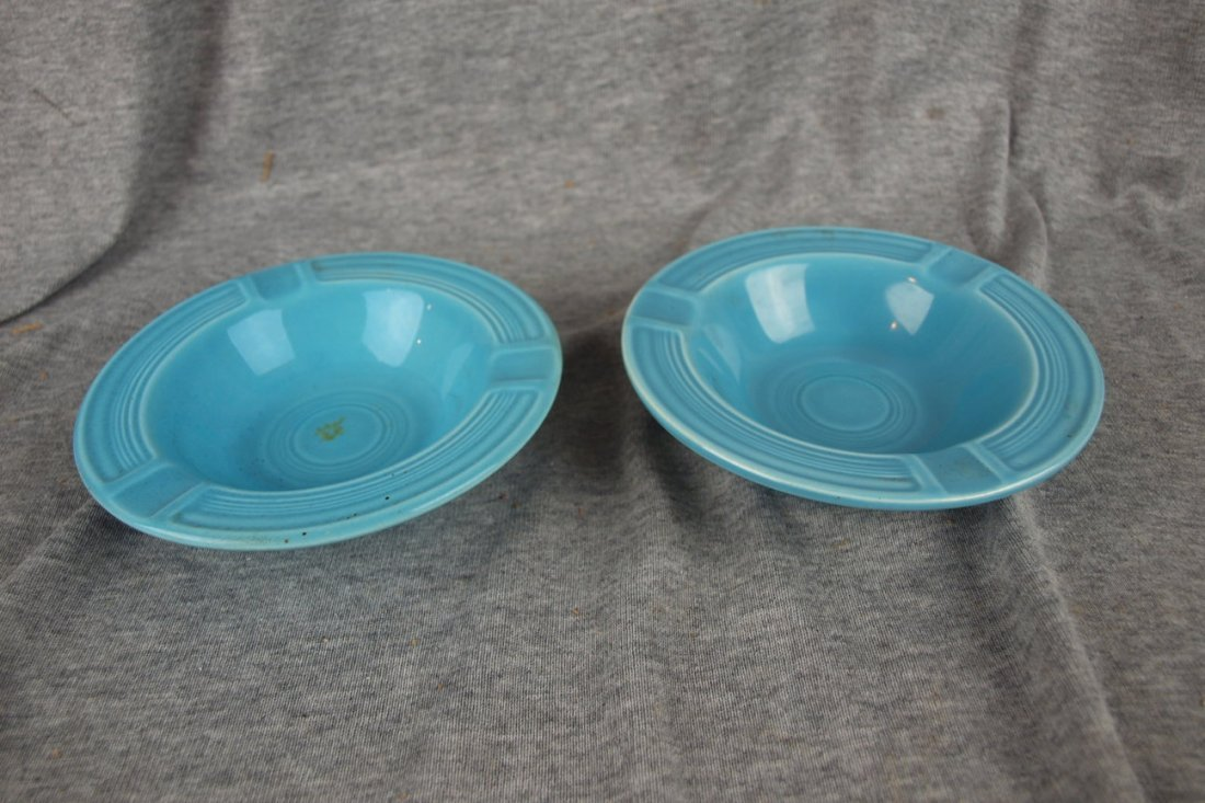 522: Fiesta ashtray, 2 turquoise