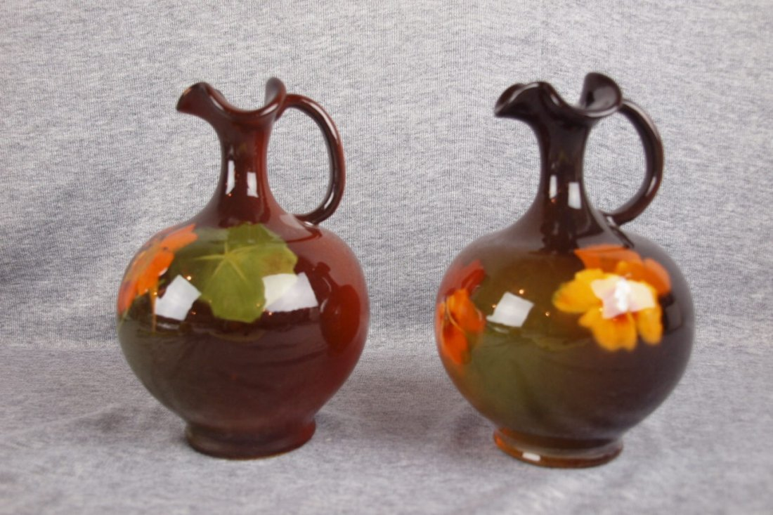 45: Weller Louwelsa art pottery pair of standard glaze