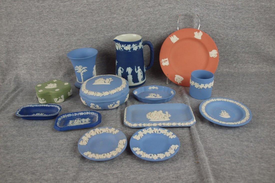 258: Wedgwood Jasperware lot of 13 assorted items