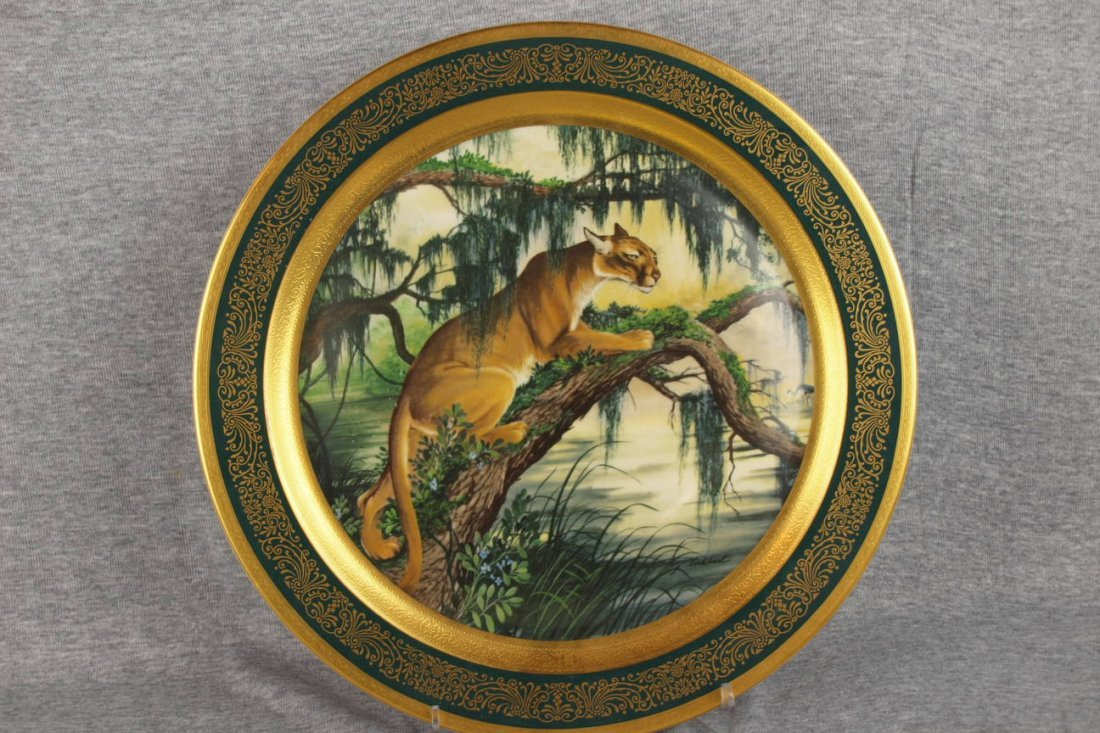 282: Pickard Panther plate, 13""
