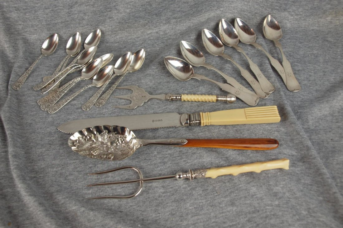 620: Lot of assorted silver flatware