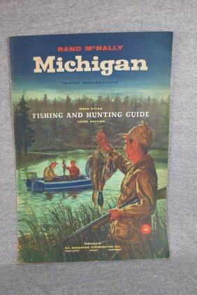 691 1955 rand mcnally michigan fishing hunting guide for Michigan dnr fishing guide