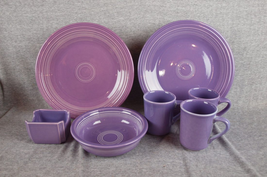 5: Fiesta Post 86 Lilac lot of 6 pieces -