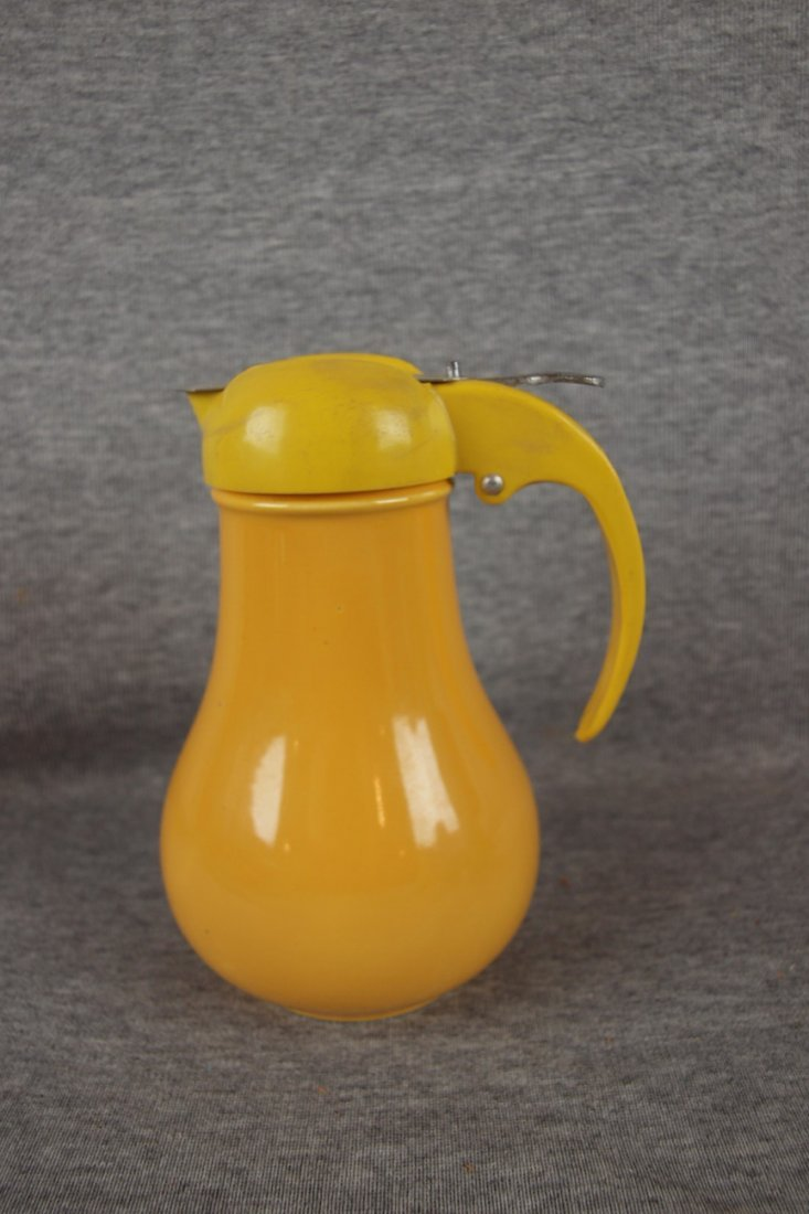 206:  Fiesta syrup pitcher, yellow