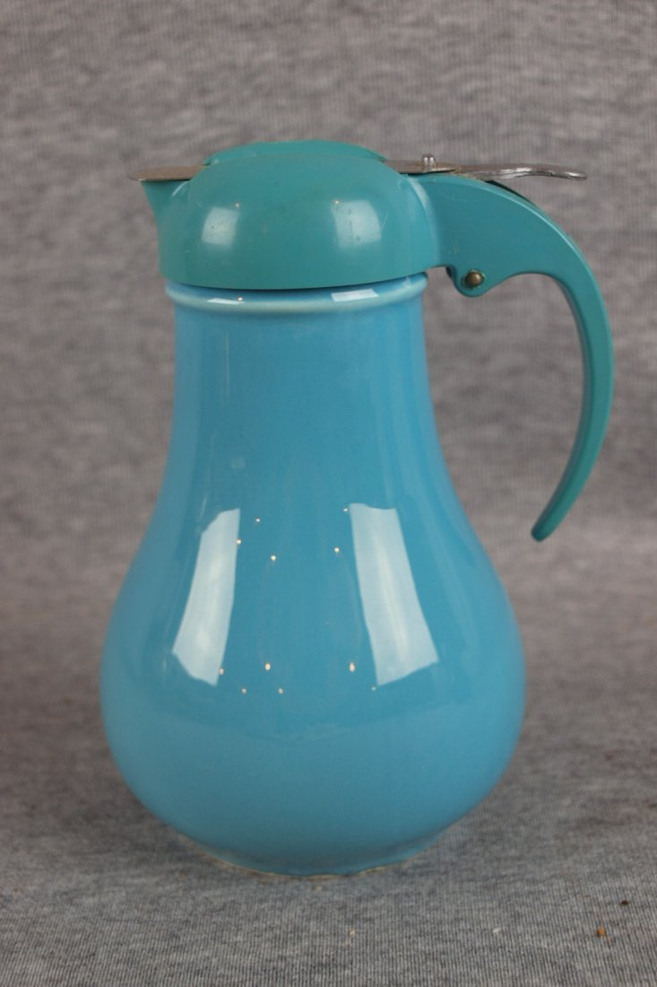 214:  Fiesta syrup pitcher, turquoise