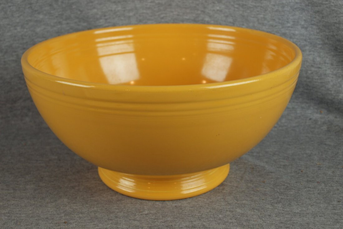 221:  Fiesta footed salad bowl, yellow