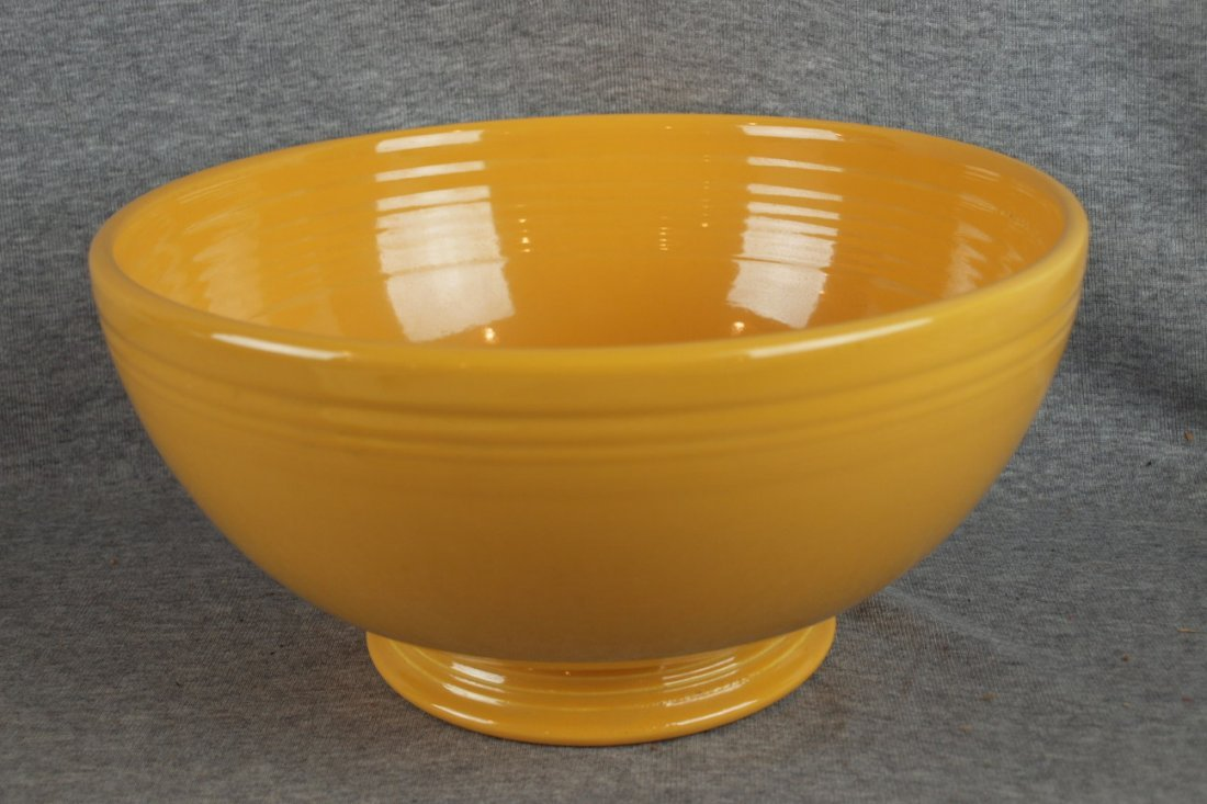 222:  Fiesta footed salad bowl, yellow