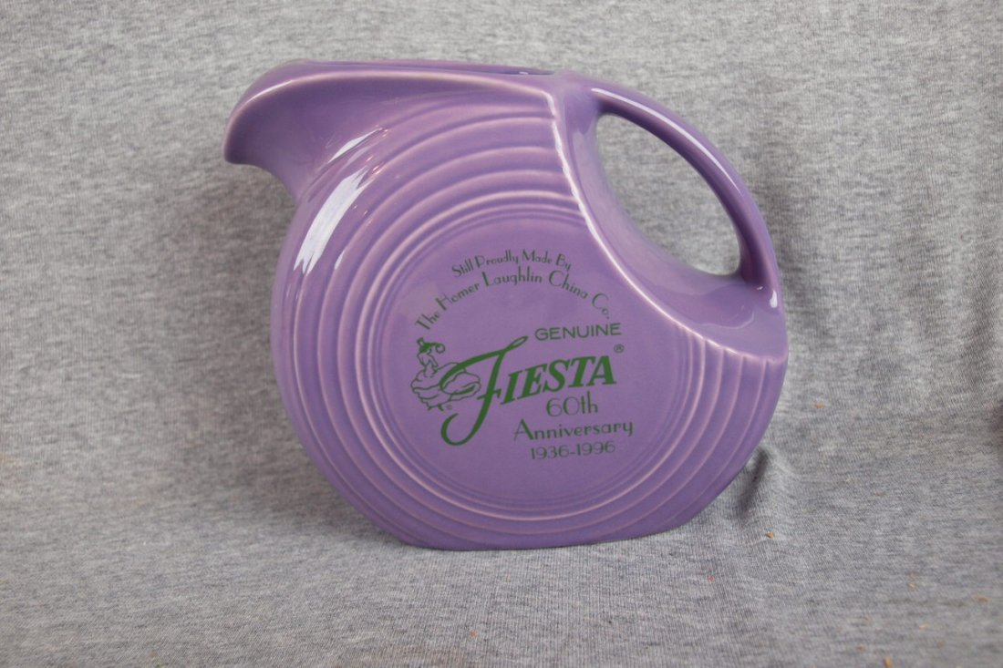 8: Fiesta lilac 60th Anniversary   disk water pitcher