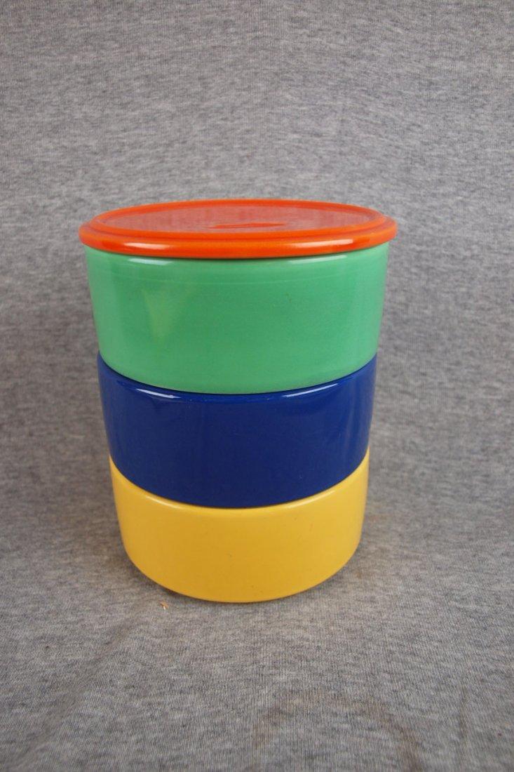 501: Fiesta Kitchen Kraft stacking   set - red lid, gre