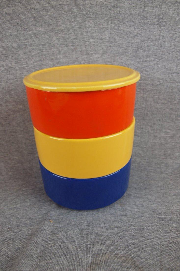 502: Fiesta Kitchen Kraft stacking   set, yellow lid, r