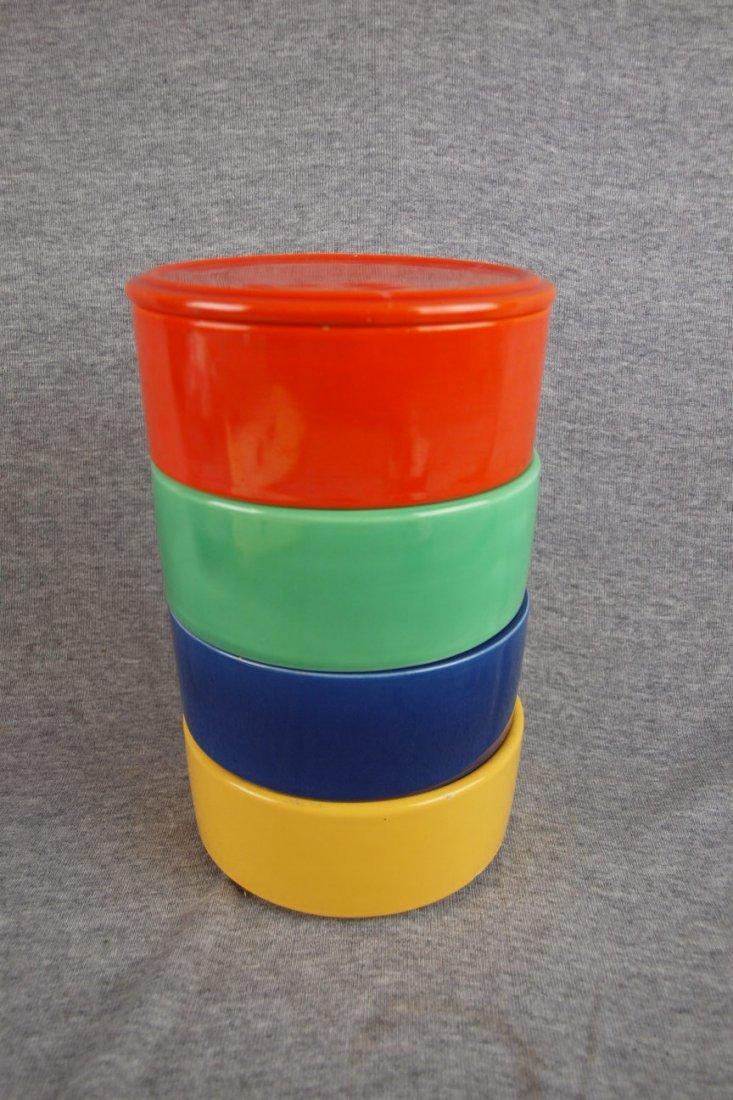 503: Fiesta Kitchen Kraft stacking   set, red lid, red,