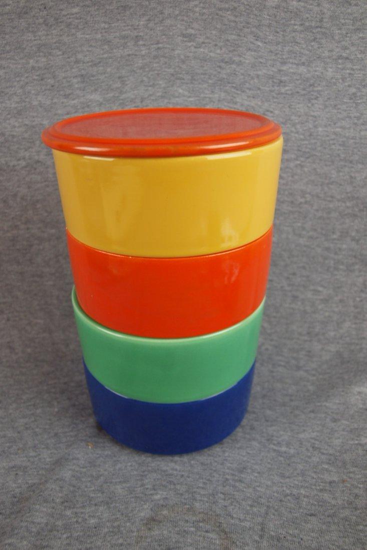 504: Fiesta Kitchen Kraft stacking   set, red lid, red,