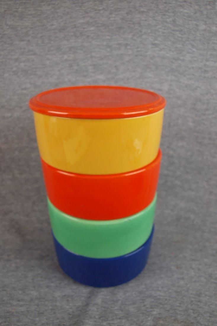 505: Fiesta Kitchen Kraft stacking   set, red lid, red,