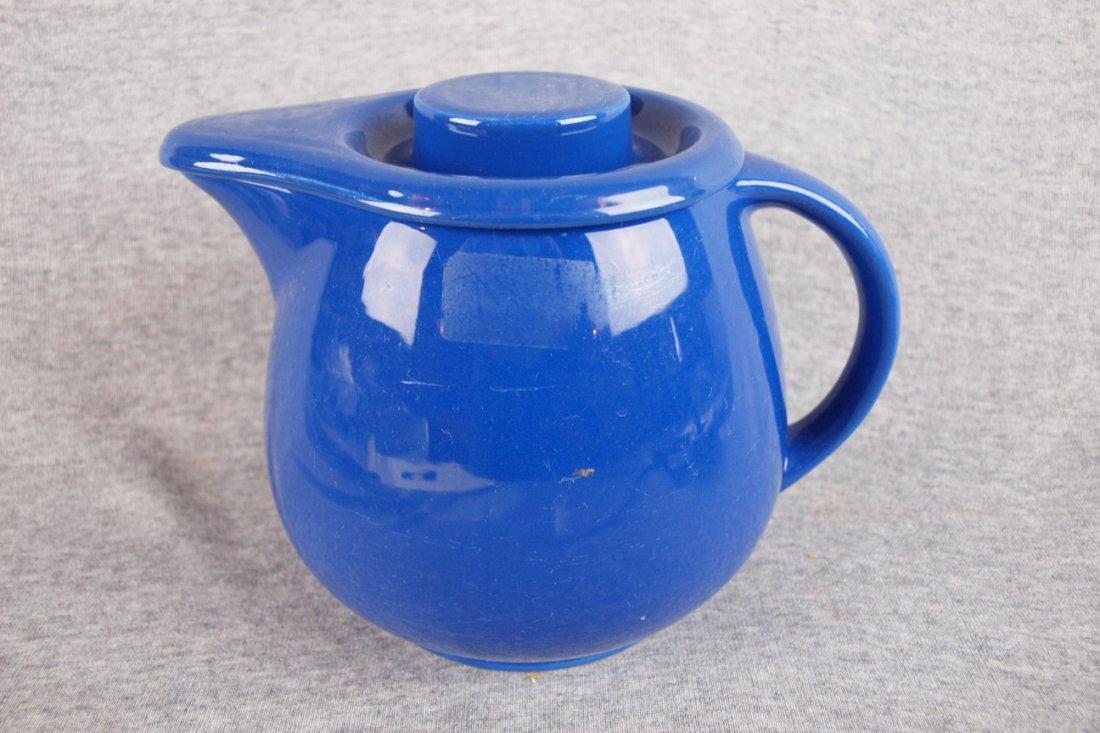 509: Fiesta Kitchen Kraft covered   jug, cobalt