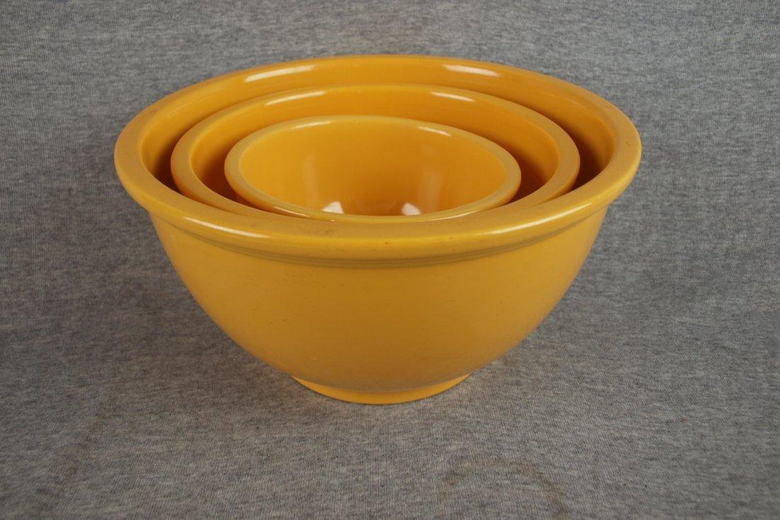 515: Fiesta Kitchen Kraft 3 piece   mixing bowl set, ye