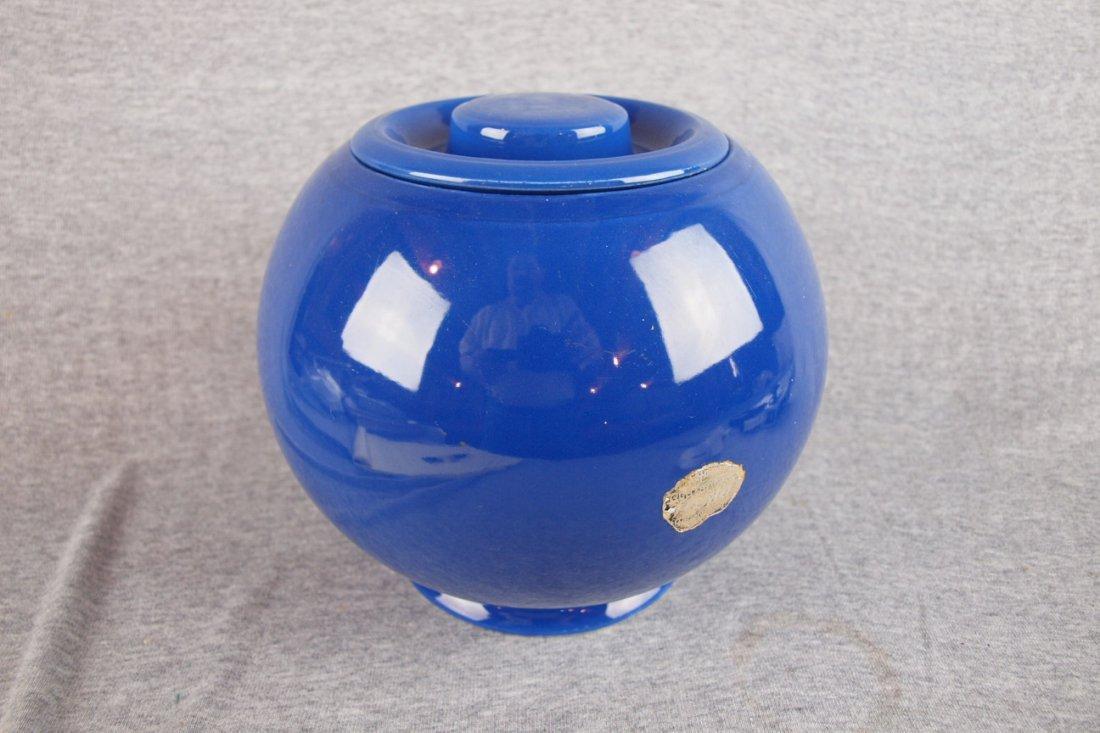 517: Fiesta Kitchen Kraft cobalt   large covered jar