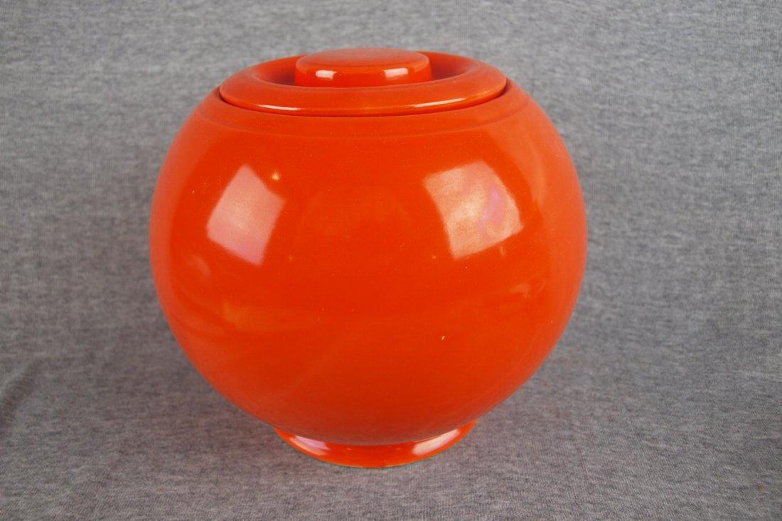 518: Fiesta Kitchen Kraft red large   covered jar