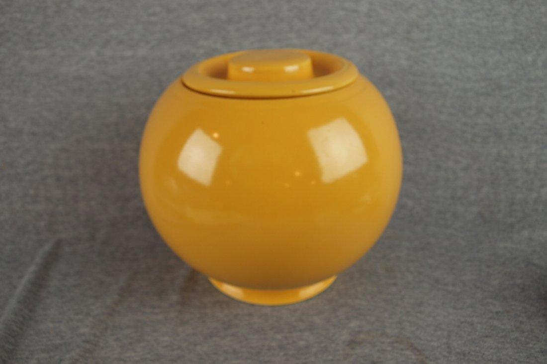 519: Fiesta Kitchen Kraft yellow   large covered jar