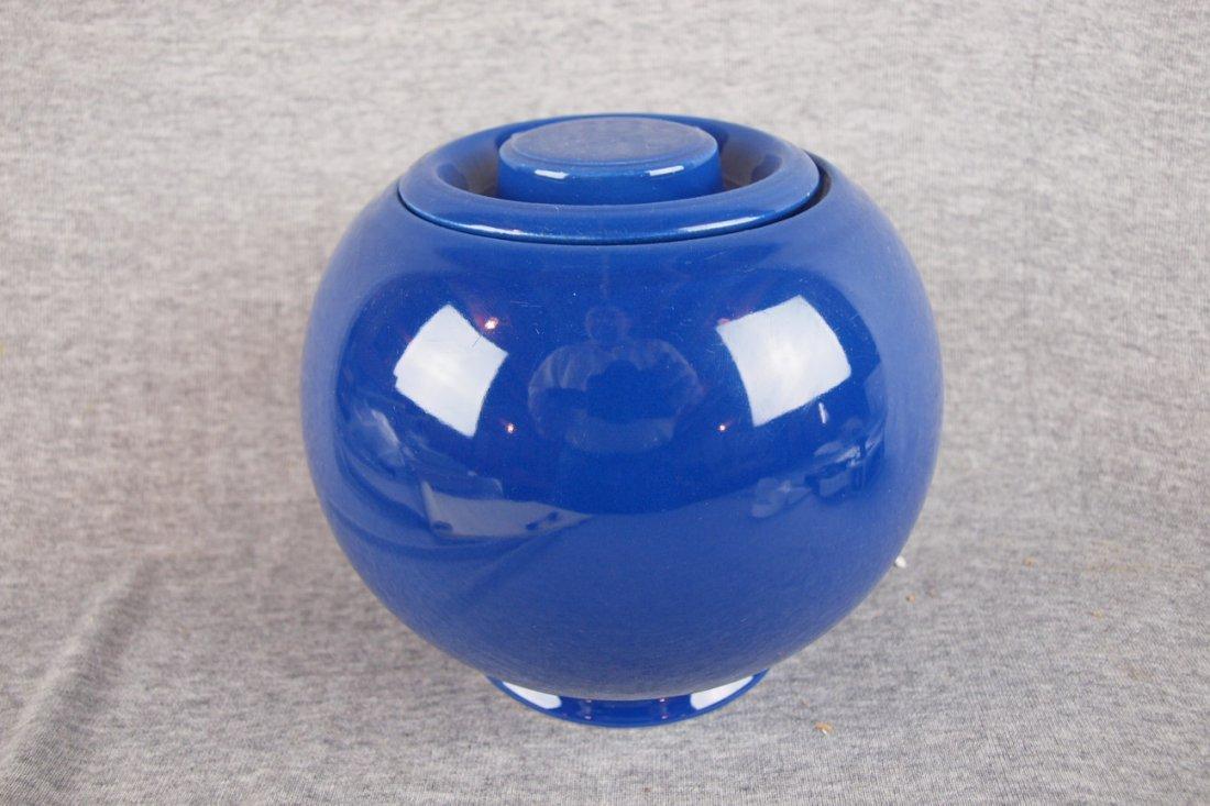 522: Fiesta Kitchen Kraft medium   covered jar, cobalt