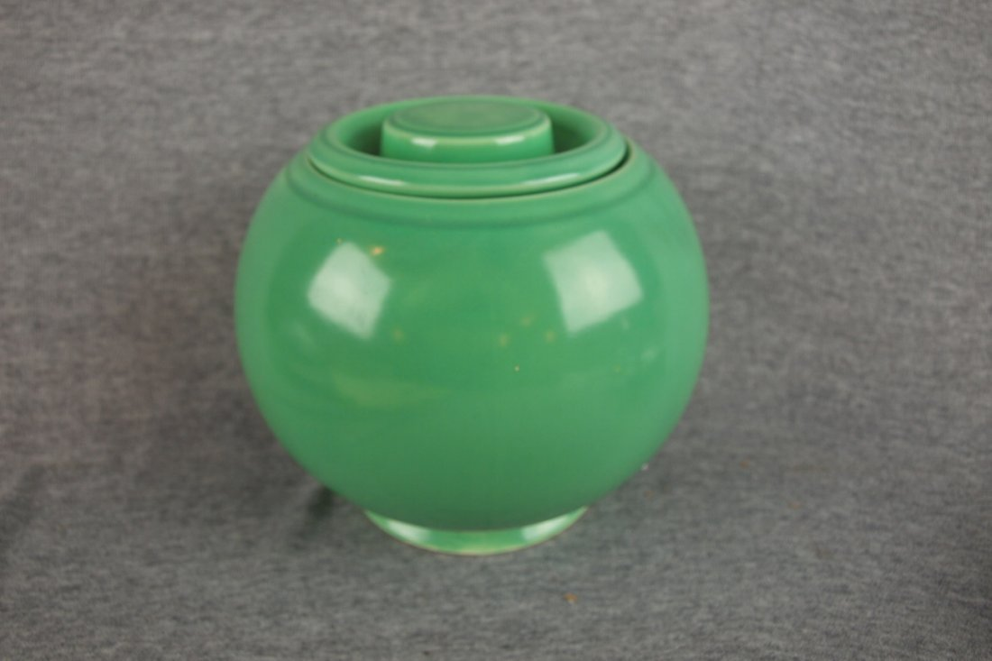 523: Fiesta Kitchen Kraft medium   covered jar, green