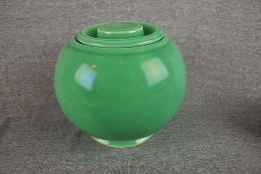524: Fiesta Kitchen Kraft medium   covered jar, green
