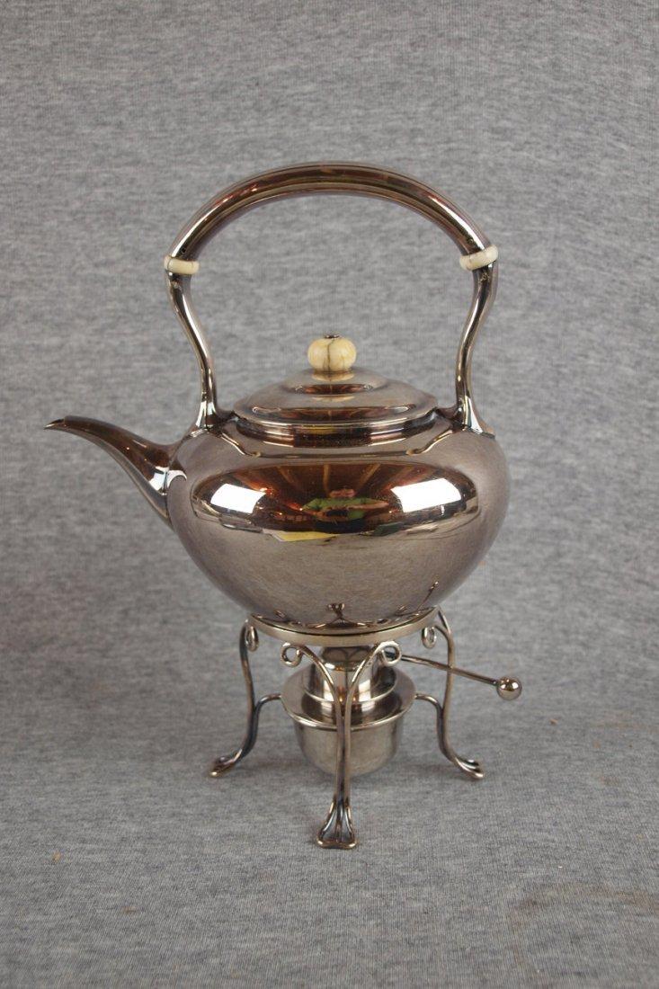 6:  Tiffany & Co. silver soldered Art Deco tea kettle w
