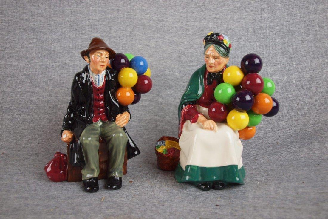 """503:  Royal Doulton """"The Ballon Man"""" no. 1954 and """"Old"""