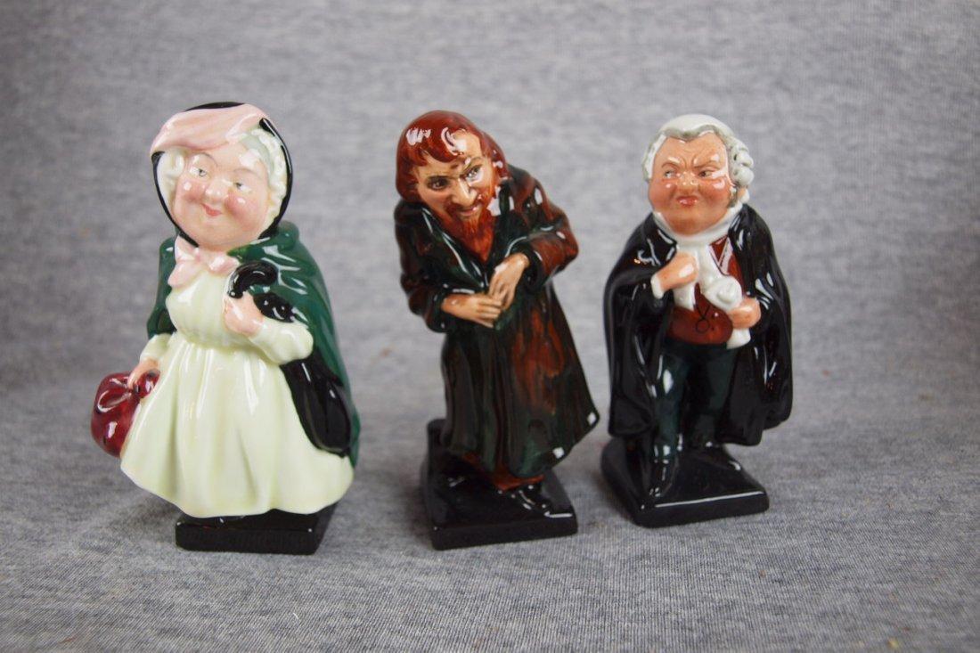 "509:  Royal Doulton lot of 3 figures - ""Sairy Gamp"", ""F"